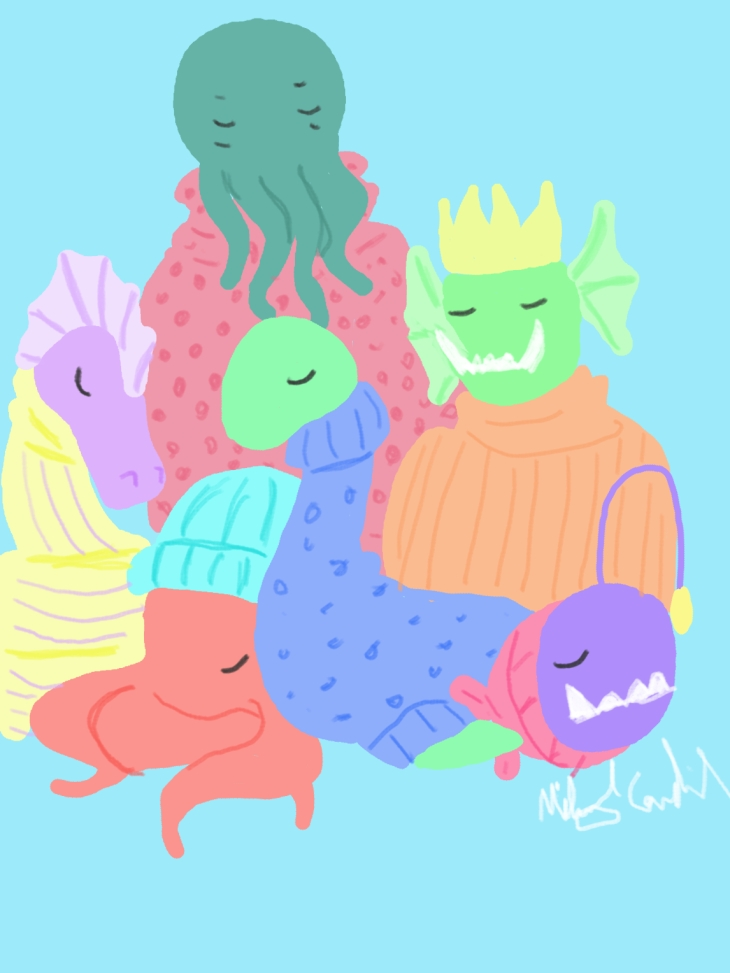sea monster sweaters